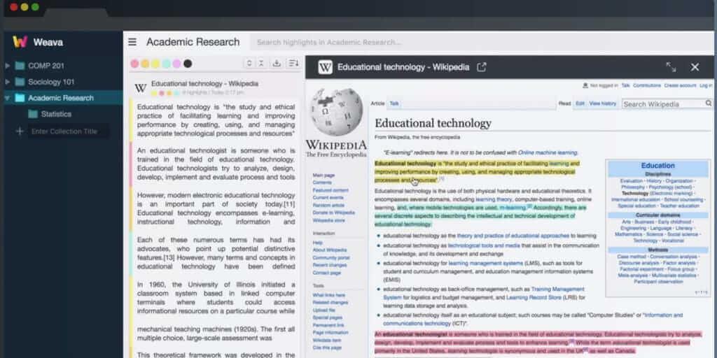 ブックマーク地獄は卒業!複数のWebページ・PDFをハイライトして保存する「Weava」