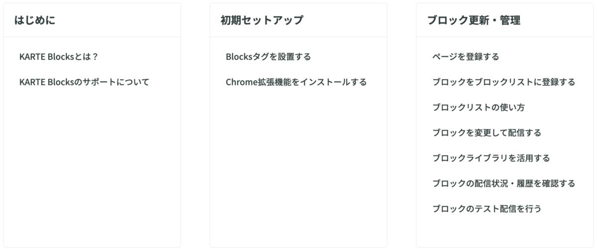 KARTE Blocks_support